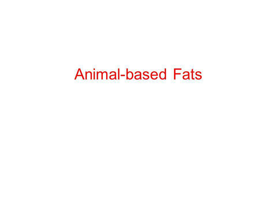 Animal-based Fats