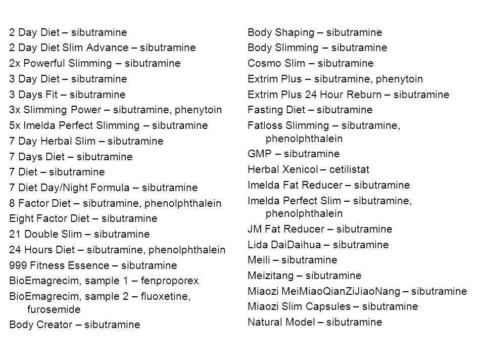 2 Day Diet – sibutramine 2 Day Diet Slim Advance – sibutramine 2x Powerful Slimming – sibutramine 3 Day Diet – sibutramine 3 Days Fit – sibutramine 3x