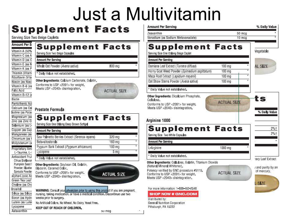 Just a Multivitamin
