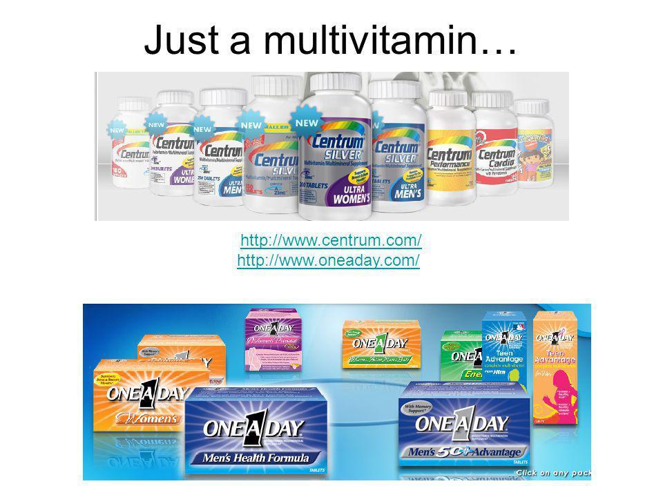 Just a multivitamin… http://www.centrum.com/ http://www.oneaday.com/