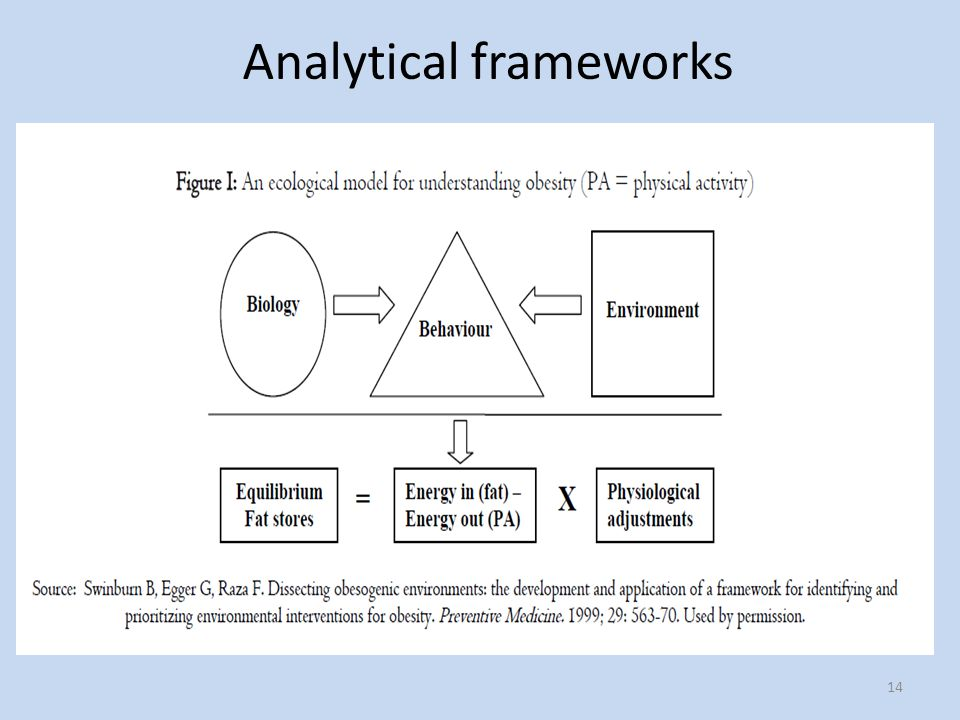 14 Analytical frameworks