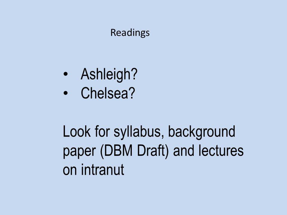 Ashleigh. Chelsea.