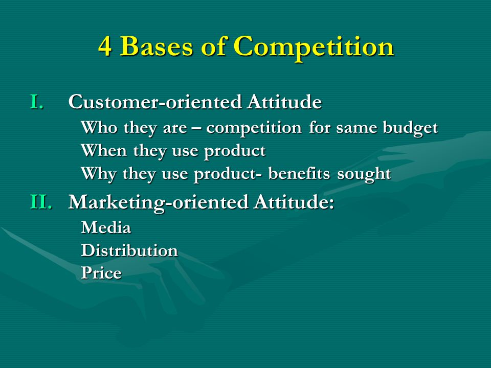 Causes of Competition Opportunity Potential Opportunity Potential Ease of Entry Ease of Entry Nature of Product Nature of Product Exit barriers Exit barriers Homogeneity of Products Homogeneity of Products Industry Structure Industry Structure Commitment to the Industry Commitment to the Industry Innovations Innovations