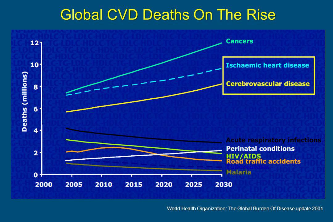 Global CVD Deaths On The Rise World Health Organization: The Global Burden Of Disease update 2004