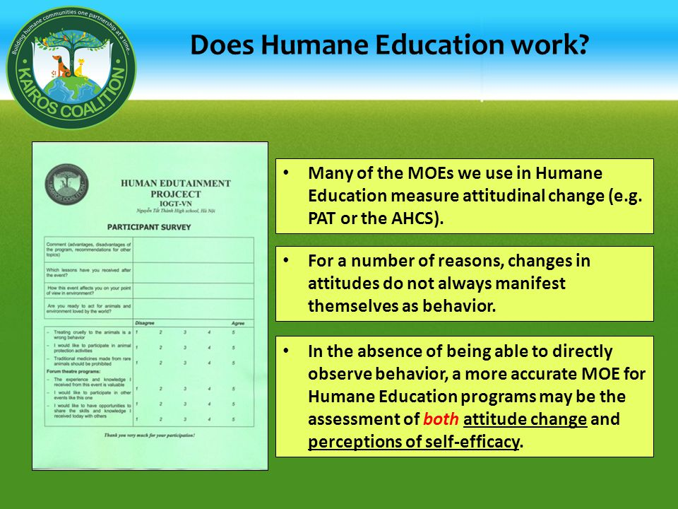 Does Humane Education work.