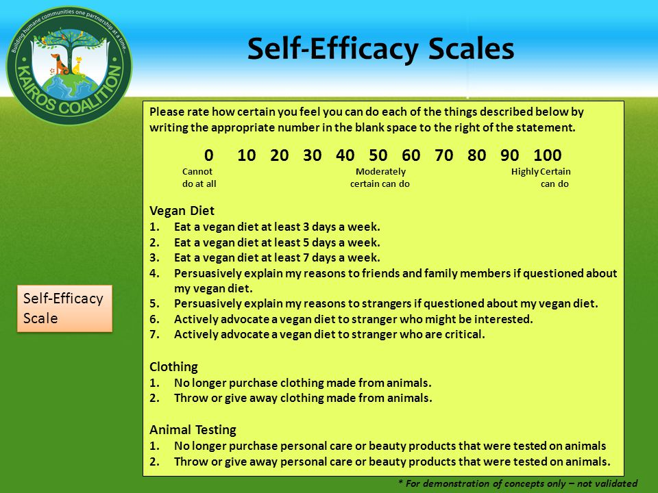 Self-Efficacy Scales Please rate how certain you feel you can do each of the things described below by writing the appropriate number in the blank space to the right of the statement.