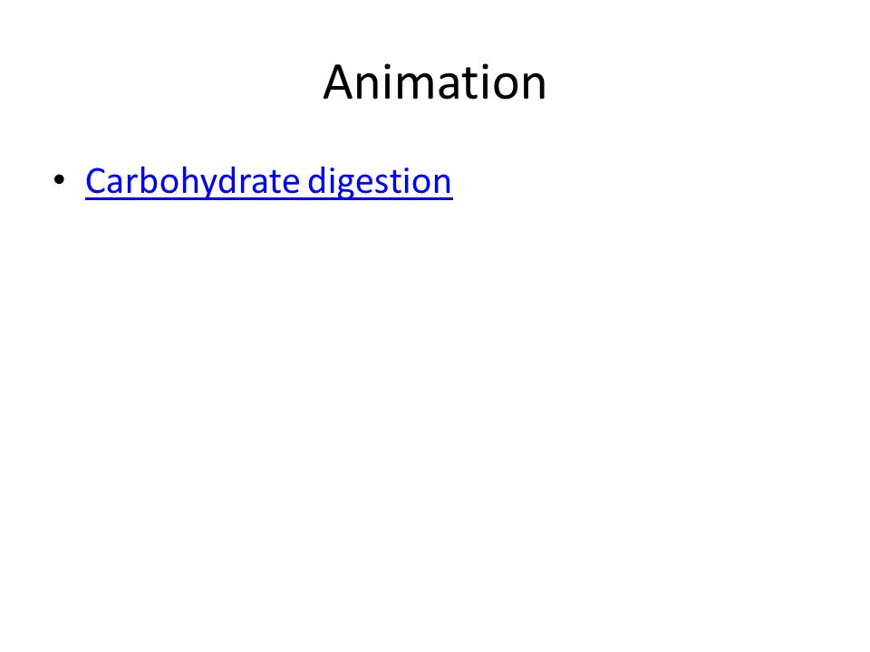 Animation Carbohydrate digestion