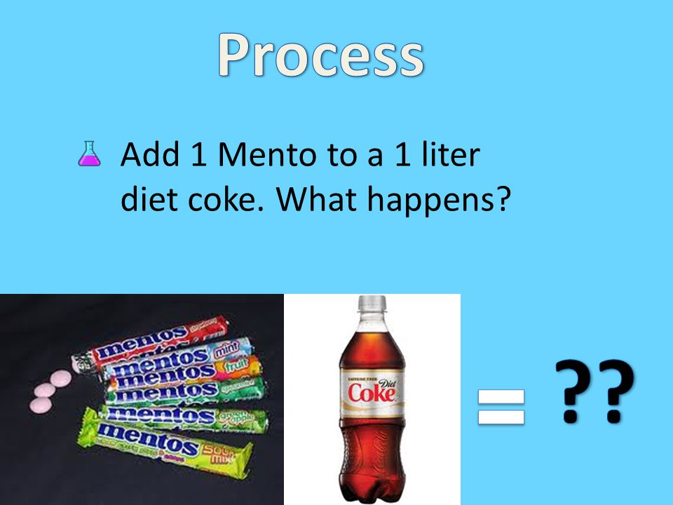 Nucleation in the Diet coke and Mentos experiment. Experiment with other beverages.