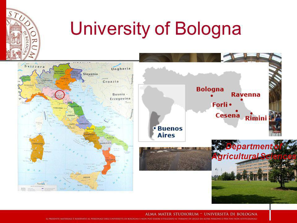 University of Bologna Department of Agricultural Sciences