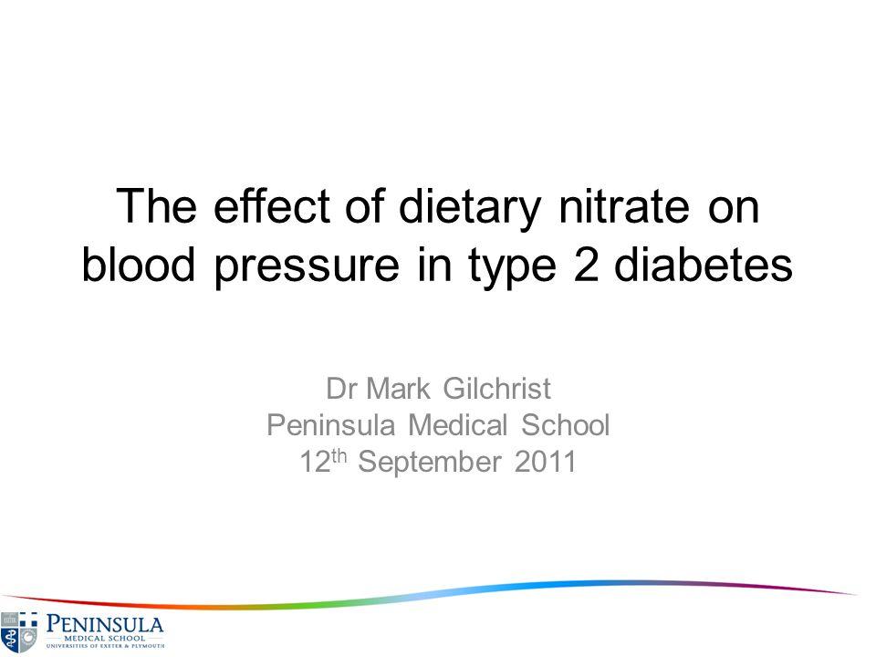Effect of oral nitrate on plasma nitrite and BP Webb et al Hypertension 2008 Systolic Blood PressurePlasma Nitrite Time (hours)