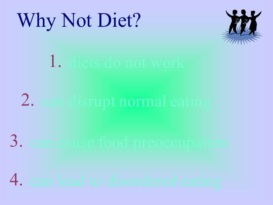 diets do not work Why Not Diet.