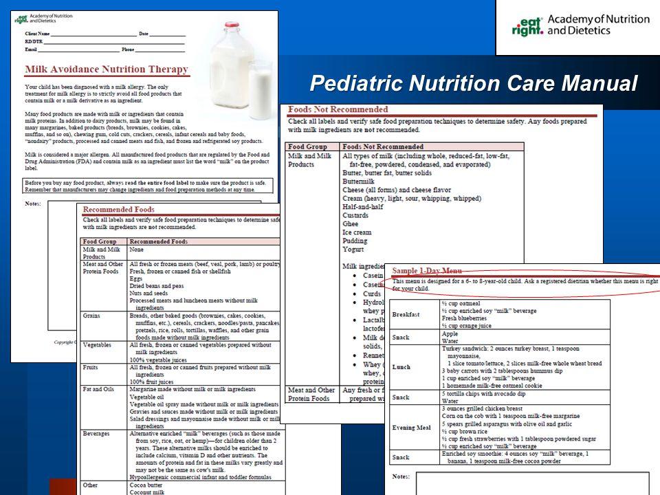 Pediatric Nutrition Care Manual