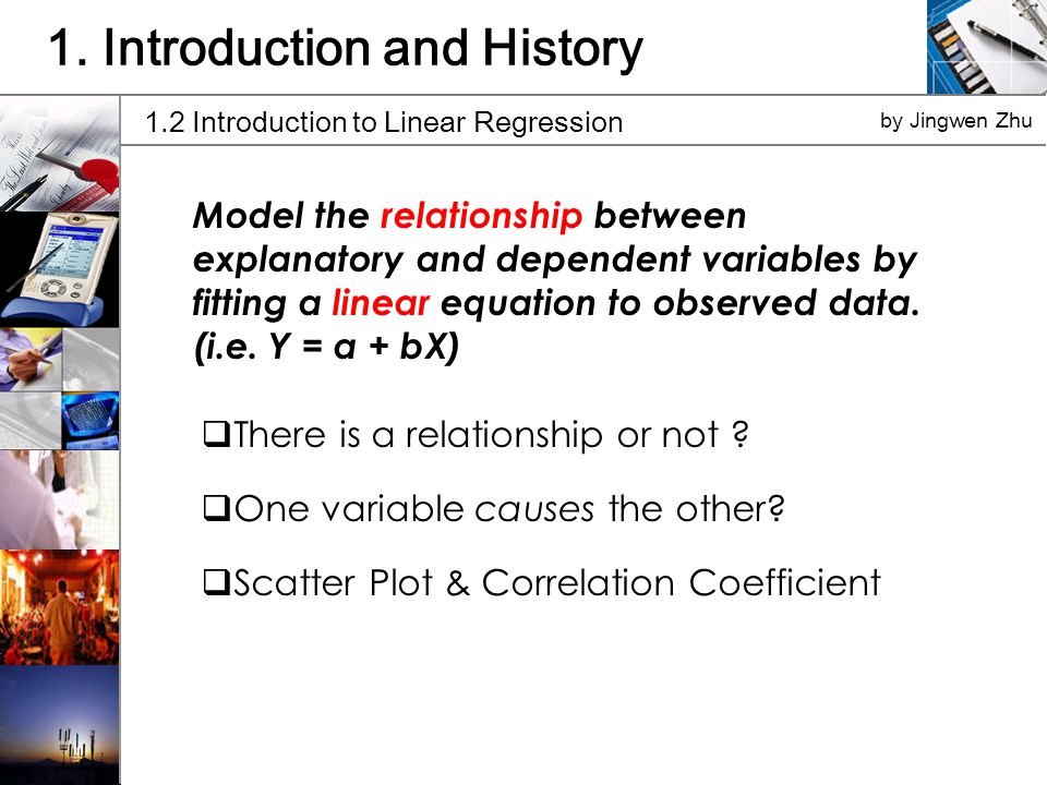 Model the relationship between explanatory and dependent variables by fitting a linear equation to observed data.
