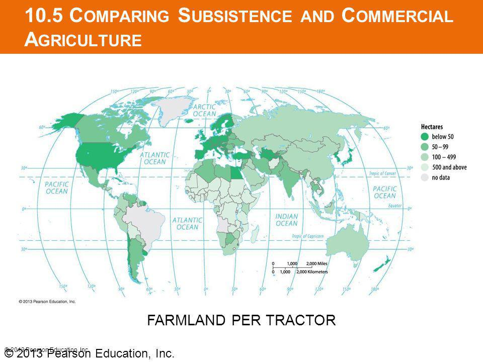 10.5 C OMPARING S UBSISTENCE AND C OMMERCIAL A GRICULTURE © 2013 Pearson Education, Inc.