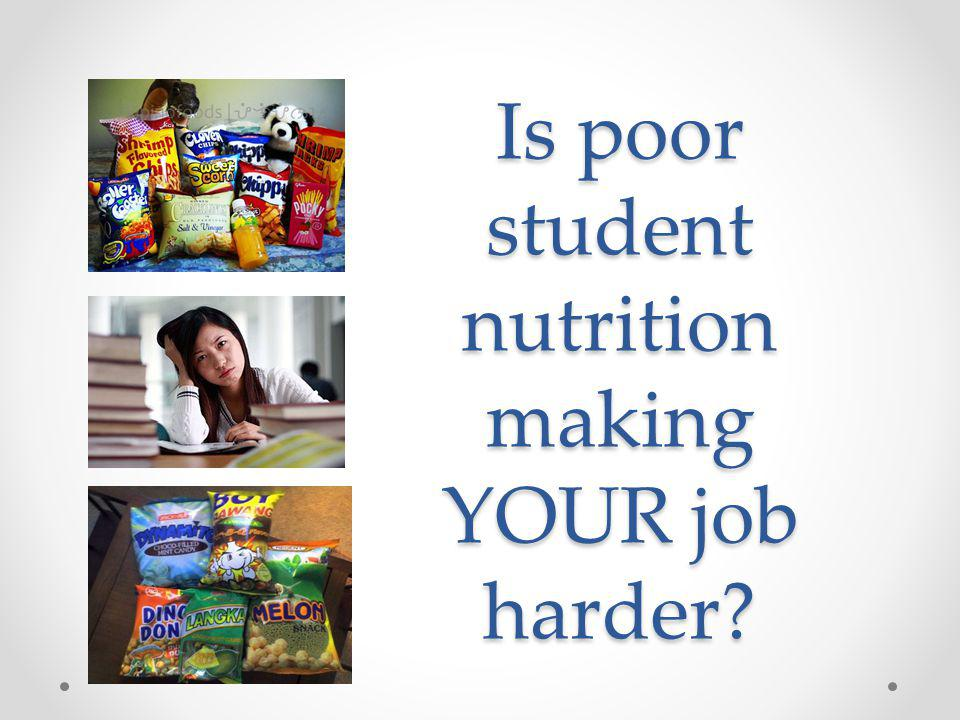 Is poor student nutrition making YOUR job harder