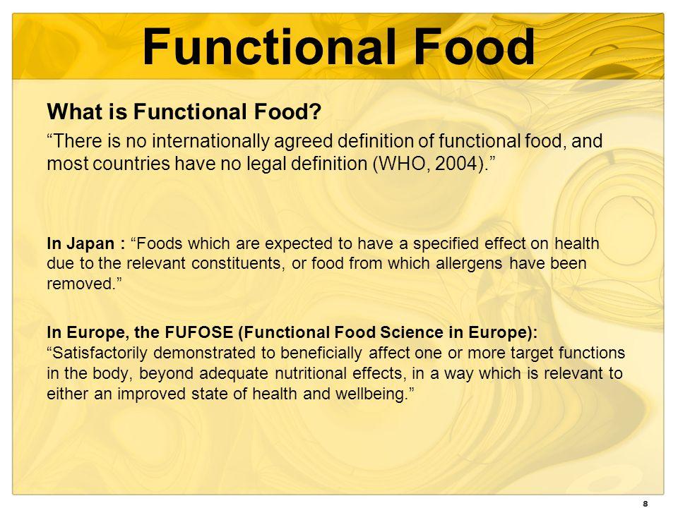 8 Functional Food What is Functional Food.