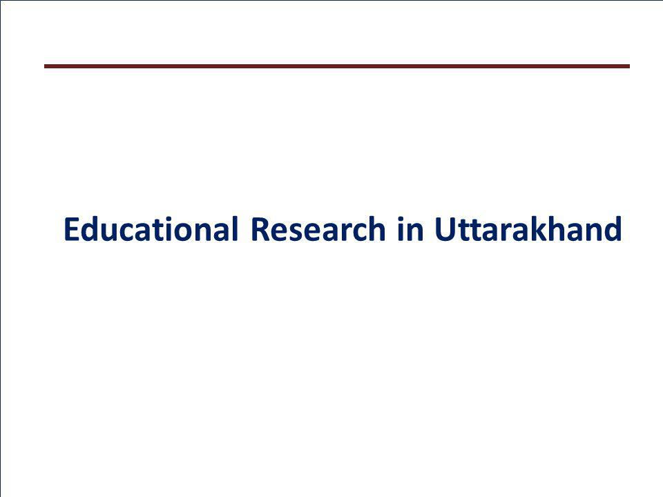 Educational Research in Uttarakhand