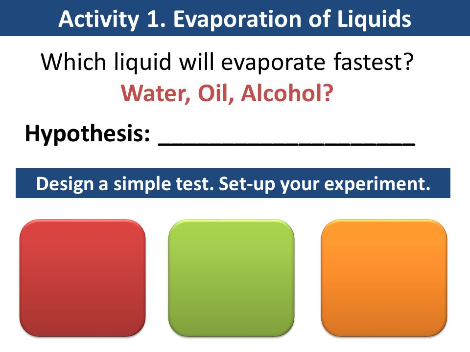 Activity 2.Boiling Point of Liquids Lab Demo: Aim: How does a coolant help prevent overheating.
