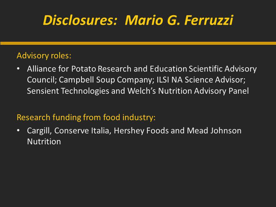 Disclosures: Mario G.