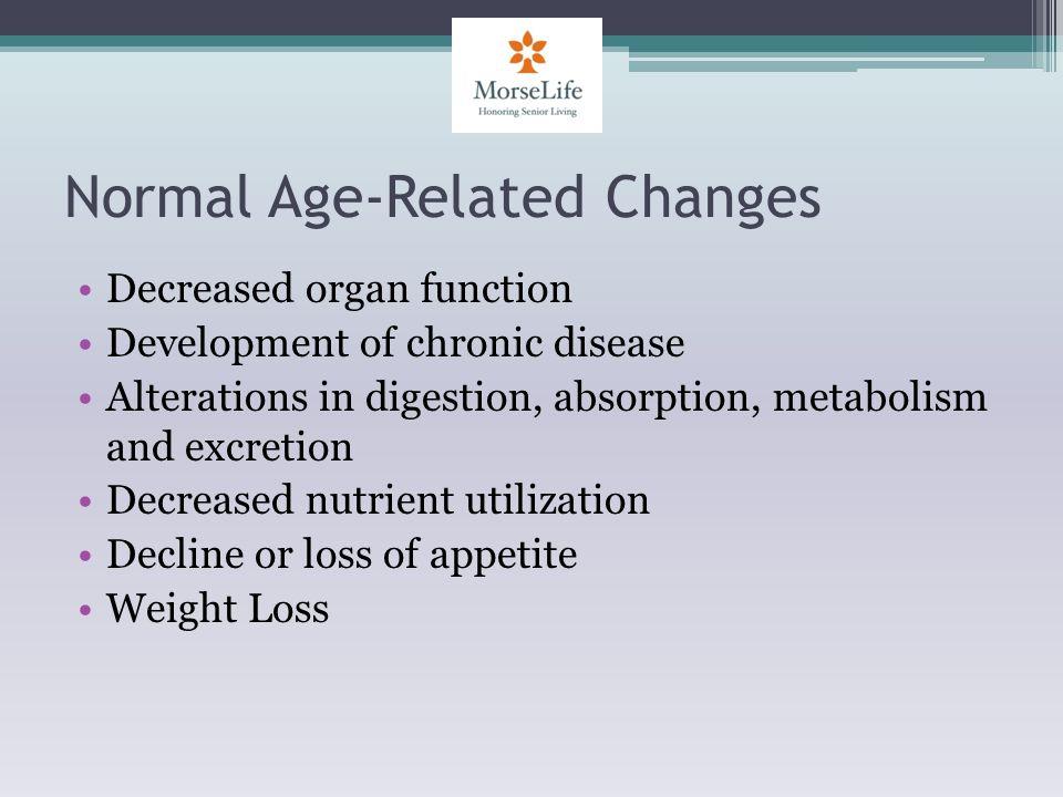 Resources Neidert K., & Doner B.(2004). Nutrition Care of the Older Adult.