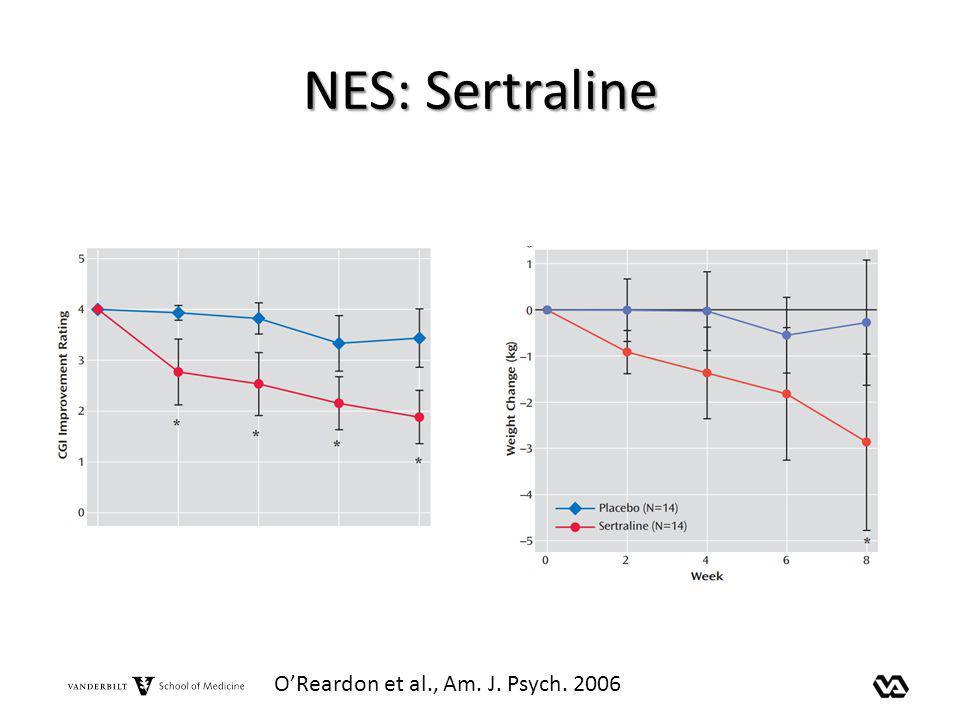 NES: Sertraline OReardon et al., Am. J. Psych. 2006