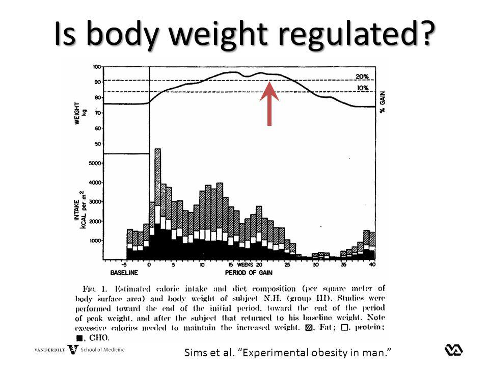 Is body weight regulated? Sims et al. Experimental obesity in man.