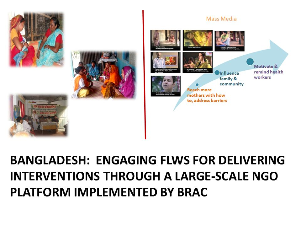 BANGLADESH: ENGAGING FLWS FOR DELIVERING INTERVENTIONS THROUGH A LARGE-SCALE NGO PLATFORM IMPLEMENTED BY BRAC