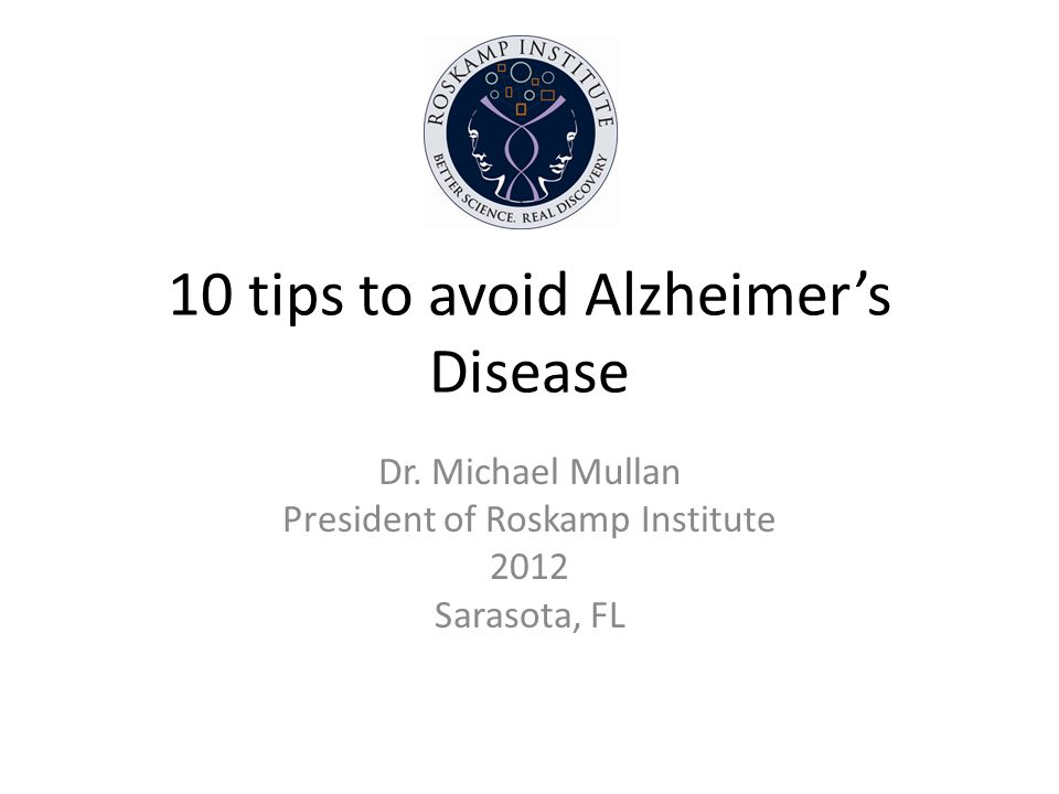 10 tips to avoid Alzheimers Disease Dr.