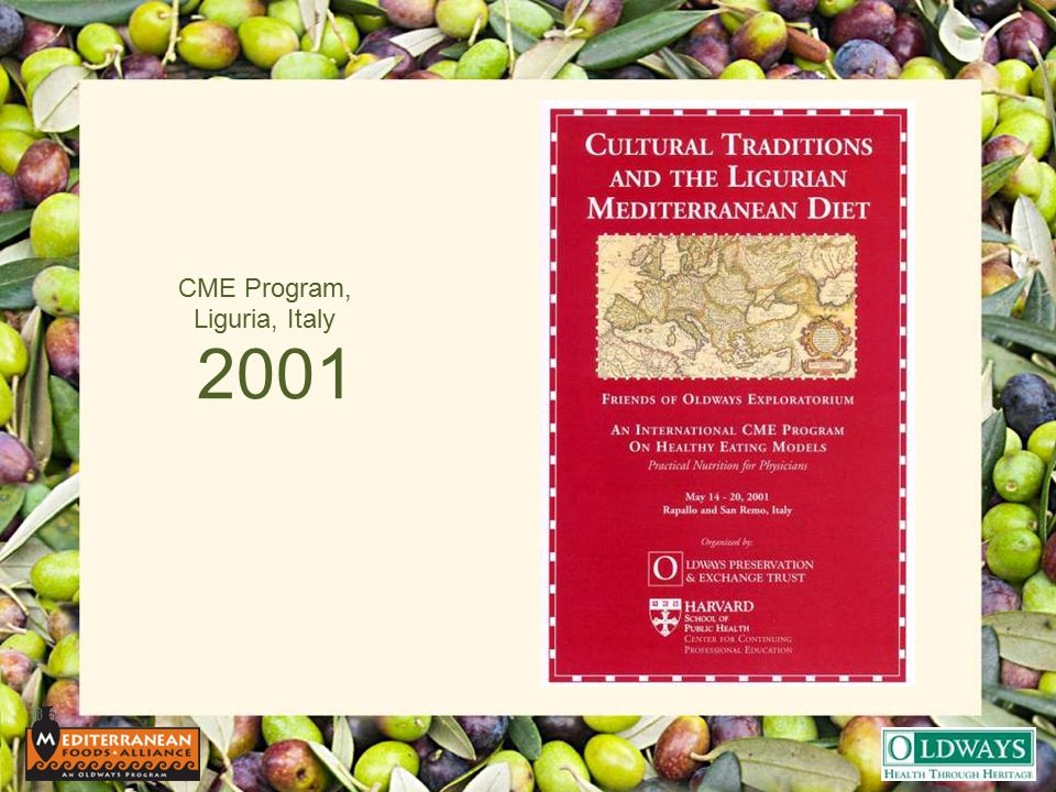 2001 CME Program, Liguria, Italy
