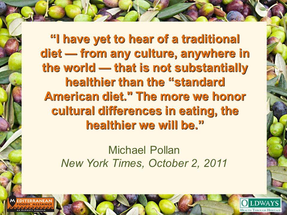 Michael Pollan New York Times, October 2, 2011