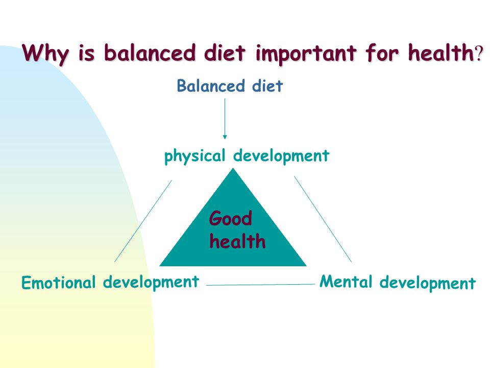 Why is balanced diet important for health .