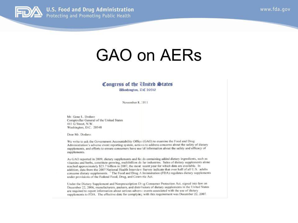 GAO on AERs