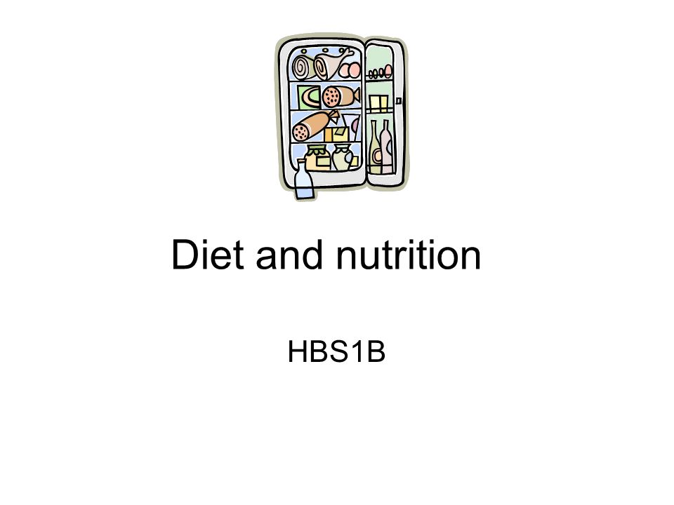 Diet and nutrition HBS1B
