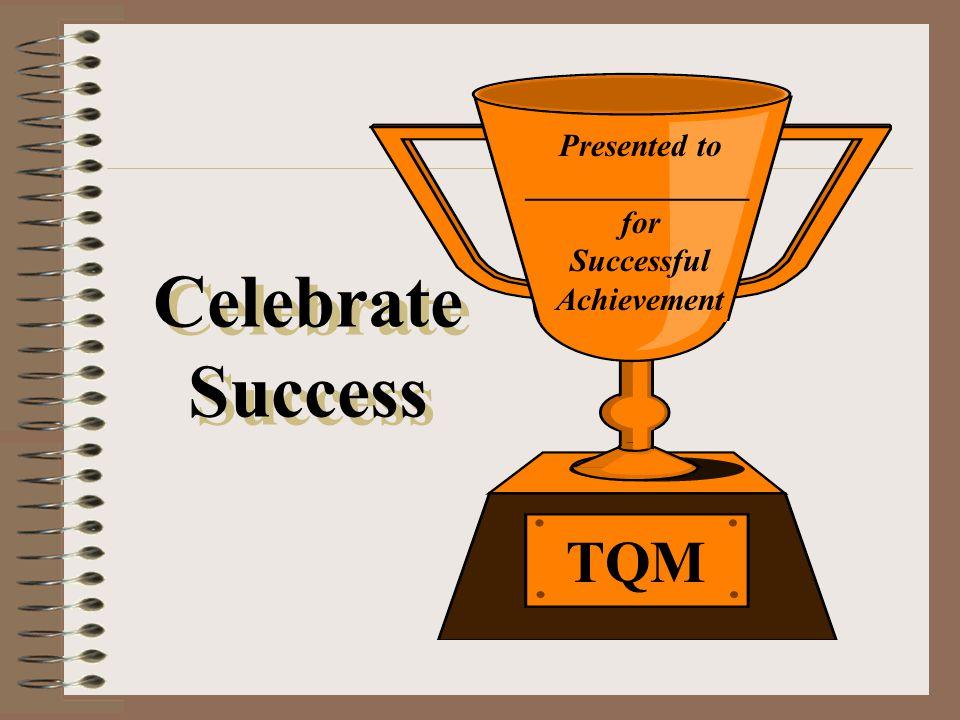 Presented to ______________ for Successful Achievement TQM Celebrate Success