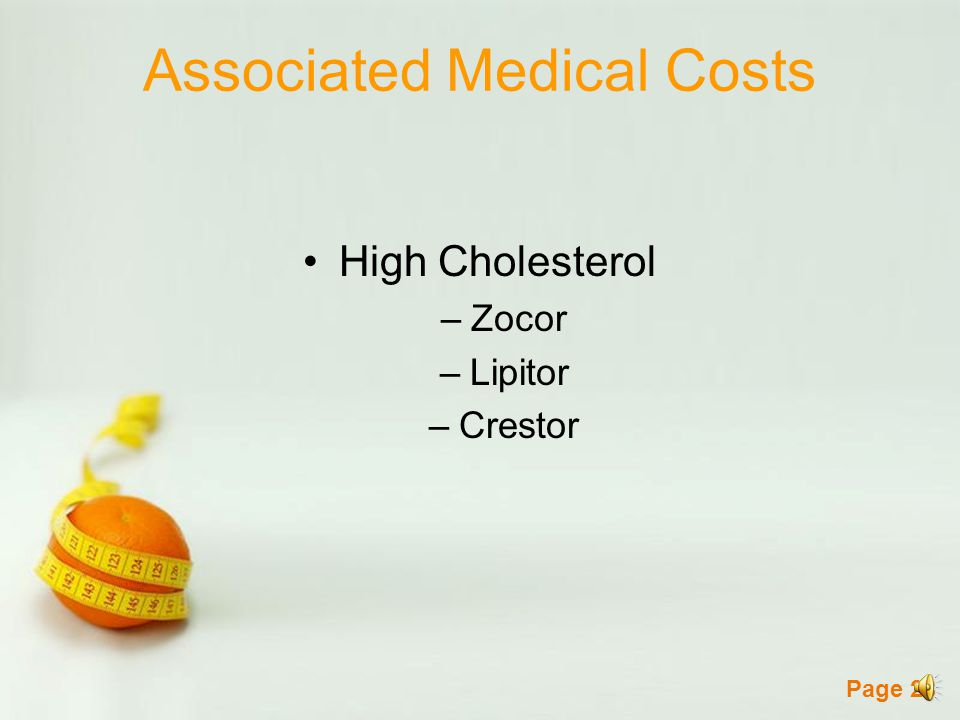 Page 27 Associated Medical Costs Hypertension –Lisinopril –Norvasc –Water Pills