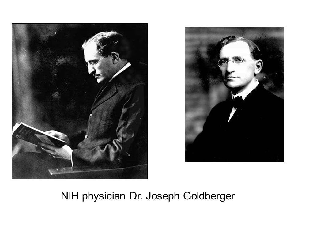 NIH physician Dr. Joseph Goldberger
