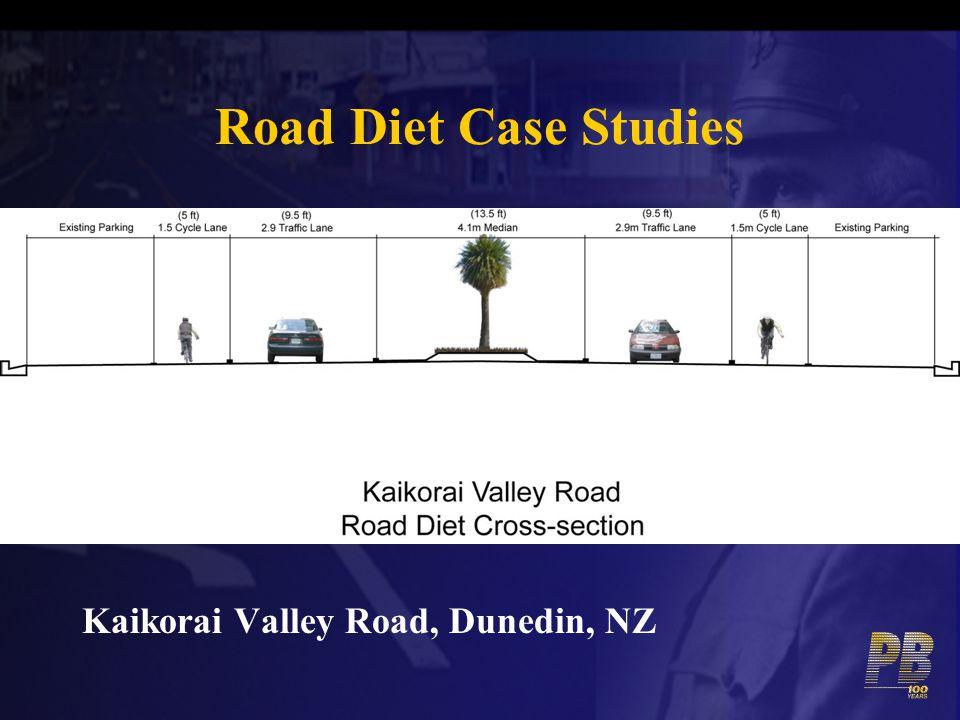 Road Diet Case Studies Kaikorai Valley Road, Dunedin, NZ