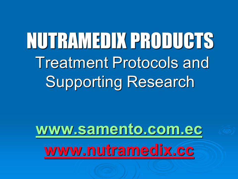 NUTRAMEDIX PRODUCTS Treatment Protocols and Supporting Research www.samento.com.ec www.nutramedix.cc