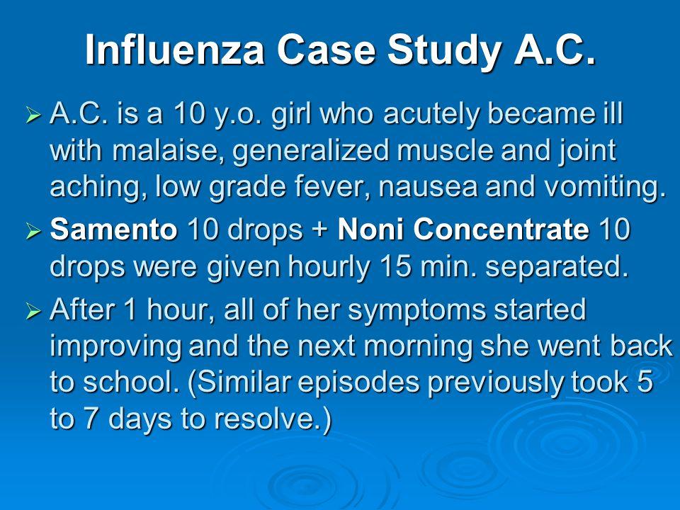 Influenza Case Study A.C. A.C. is a 10 y.o.