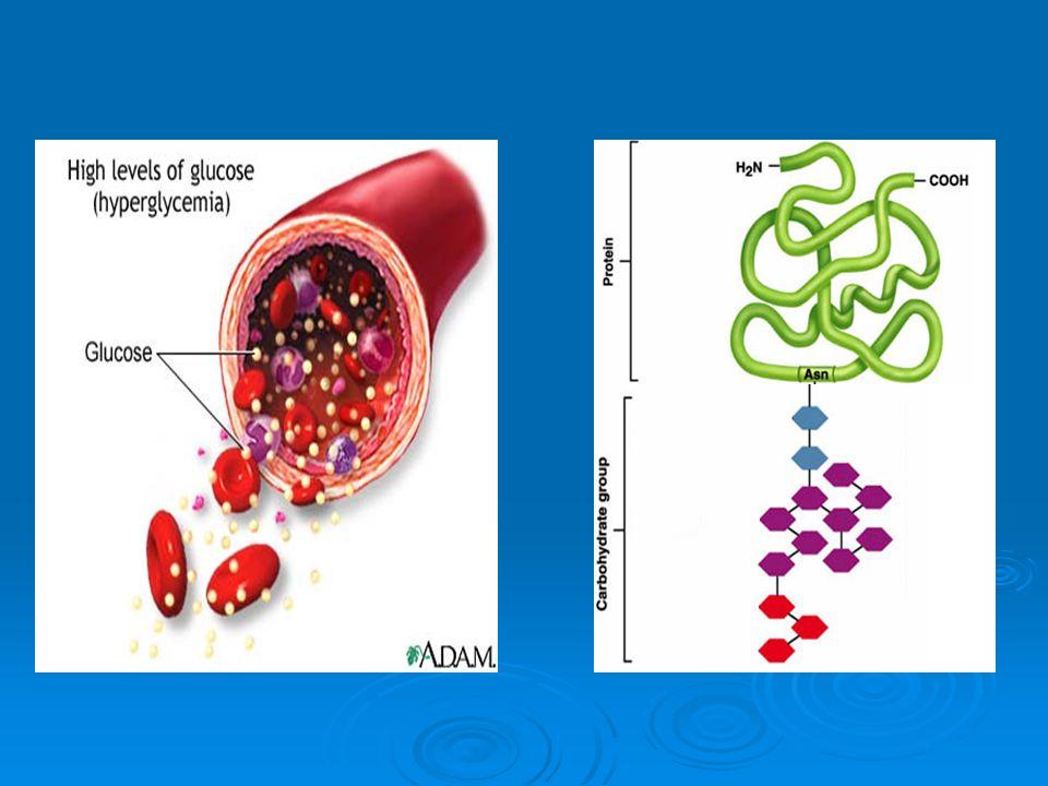 Overview Diabetes Mellitus Diabetes Mellitus Advance glycosylation of tissue proteins (AGEP) Advance glycosylation of tissue proteins (AGEP) Irreversible glycosylation of Hemoglobin Irreversible glycosylation of Hemoglobin Microvascular damage ( nephropathy & retinopathy) Microvascular damage ( nephropathy & retinopathy) Renal and Cardiovascular complications Renal and Cardiovascular complications Direct effect in Lipid metabolism Direct effect in Lipid metabolism