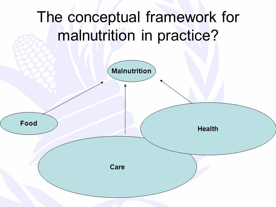 The conceptual framework for malnutrition in practice Malnutrition Food Care Health