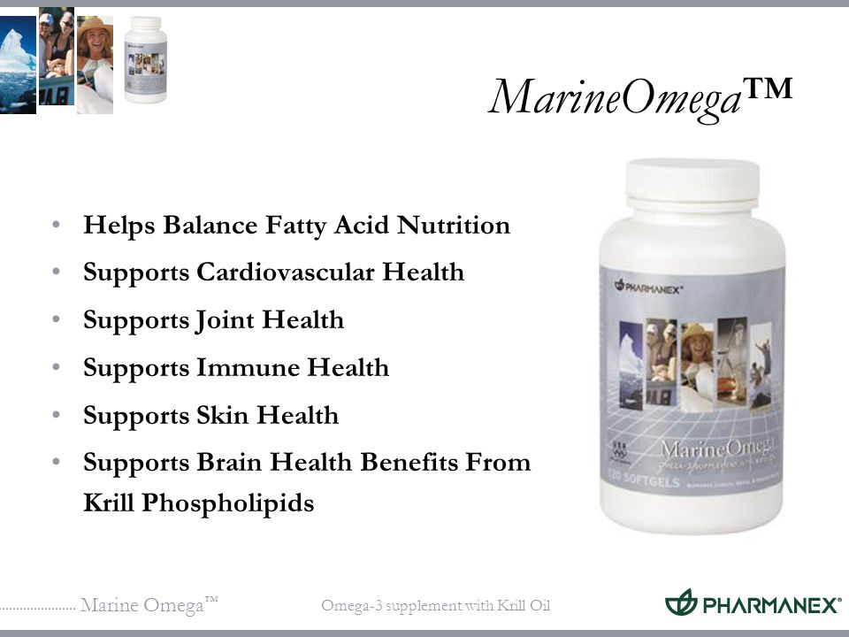 Marine Omega Omega-3 supplement with Krill Oil MarineOmega Helps Balance Fatty Acid Nutrition Supports Cardiovascular Health Supports Joint Health Sup