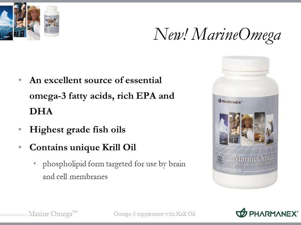 Marine Omega Omega-3 supplement with Krill Oil In balance with MarineOmega Omega-6Omega-3 MarineOmega balances essential fatty acid nutrition