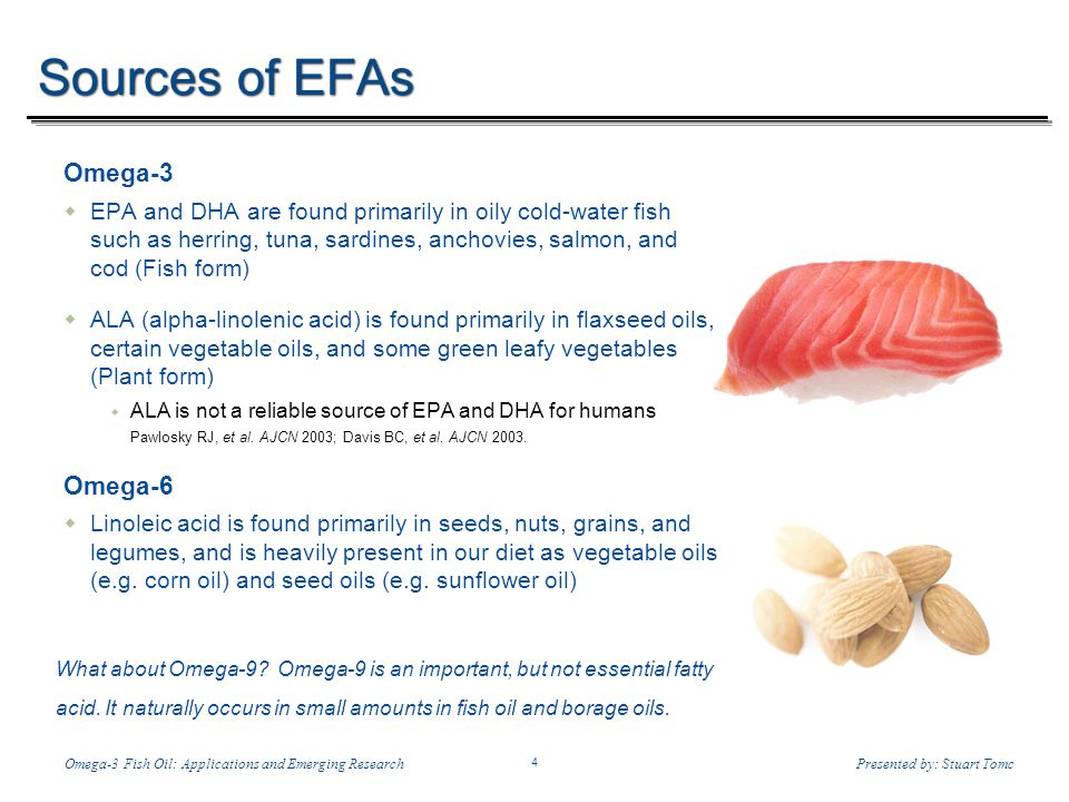 Temp-A.ppt 6/8/2014 4 4 Omega-3 Fish Oil: Applications and Emerging ResearchPresented by: Stuart Tomc What about Omega-9? Omega-9 is an important, but