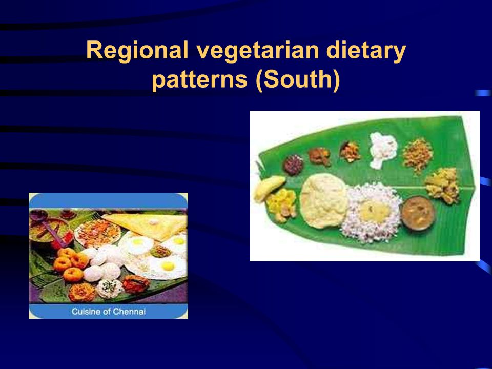 Regional vegetarian dietary patterns (South)