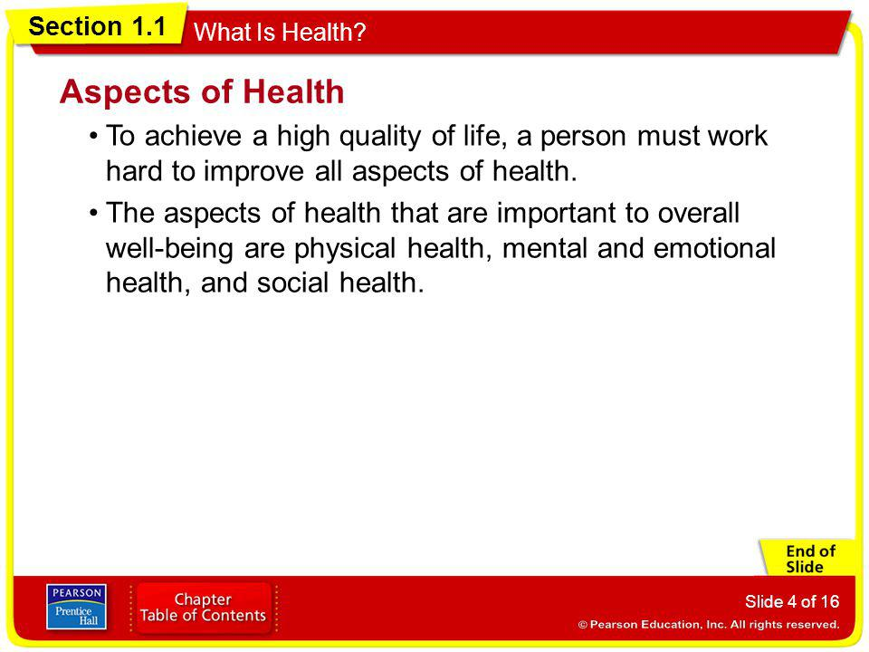 Section 1.1 What Is Health.
