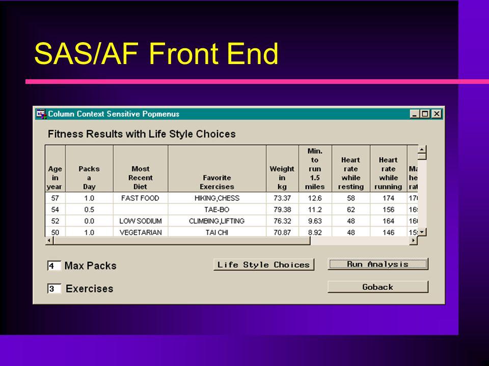 SAS/AF Front End