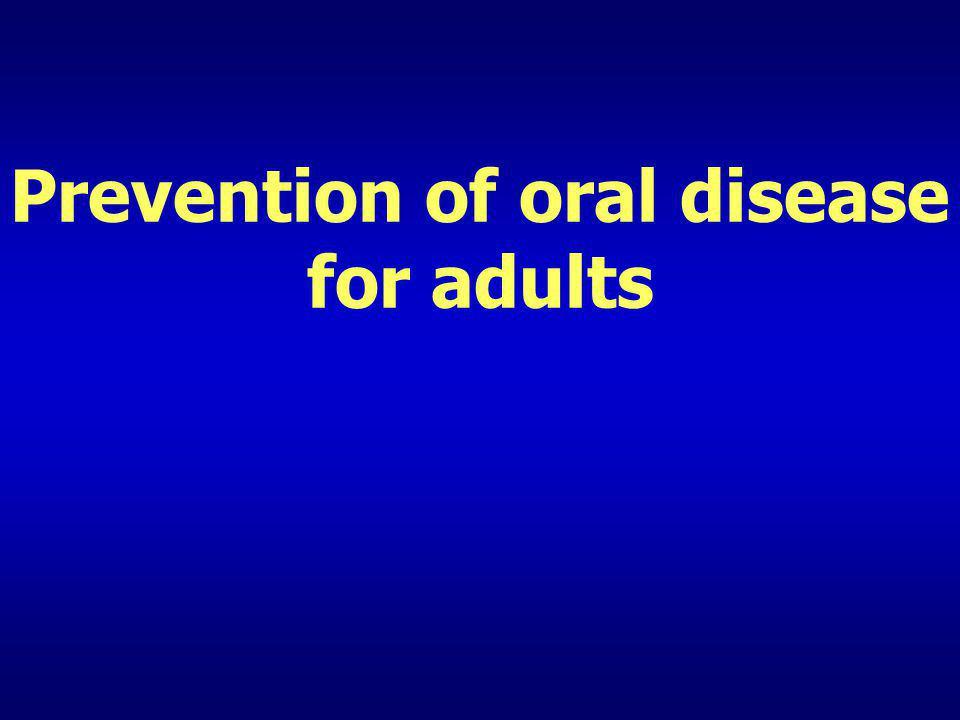 Prevention of caries – Fluoride (2) Fluoride toothpaste Fluoride conc. Preventive effect