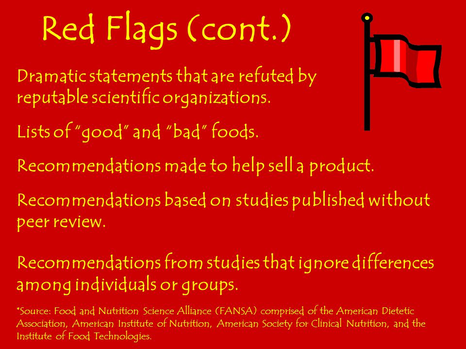 Red Flags Recommendations that promise a quick fix.