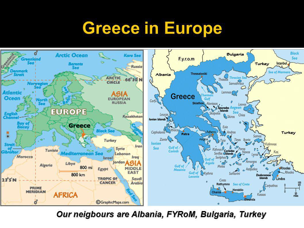 The Greek flag contains nine parallel, horizontal stripes.